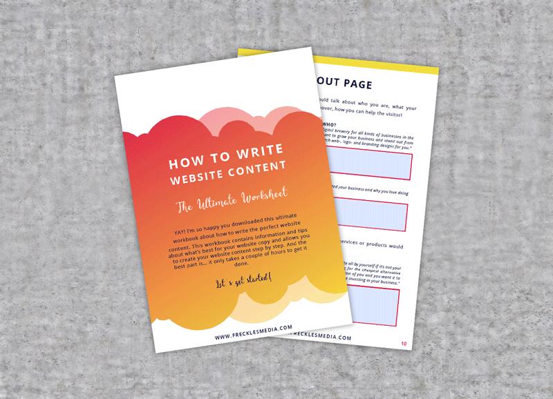Interactief werkboek: 'How to write website content'